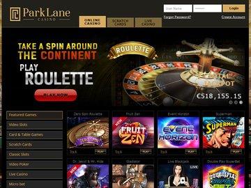 ParkLane Casino Homepage Preview