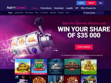 Party Casino Homepage Preview
