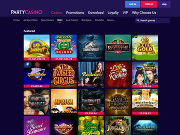 Party Casino Software Preview