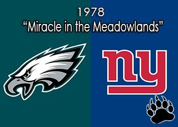 Philadelphia Eagles vs New York Giants - Miracle in the Meadowlands