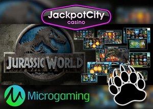 $1600 Jackpot City Casino Bonus Microgaming Jurassic World Slot