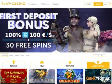 Play.casino Homepage Preview