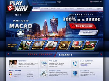 Play2Win Casino Homepage Preview