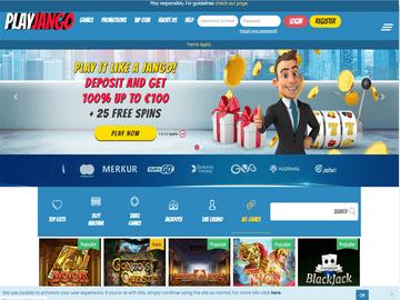 PlayJango Casino Homepage Preview