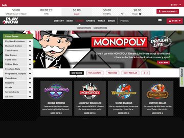 Playnow Casino Homepage Preview