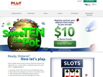 PlayOLG Casino Homepage Preview