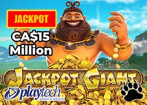 Playtech's Jackpot Giant Progressive Jackpot Climbs Above CA$15 Million
