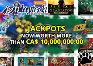 Playtech jackpots worth over 10 million dollars