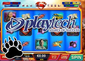 playtech new slot man of steel DC