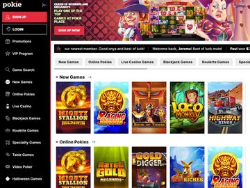 Pokie Place Homepage Preview