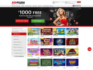 Red Flush Casino Homepage Preview