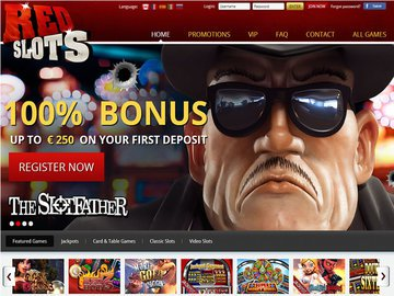 Red Slots Casino Homepage Preview