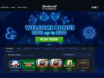 Rembrandt Casino Homepage Preview