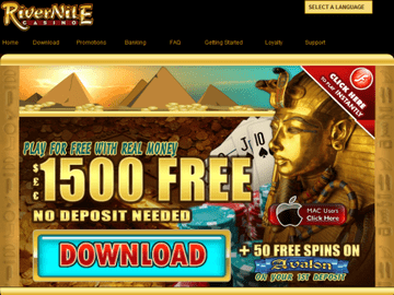 River Nile Casino Homepage Preview