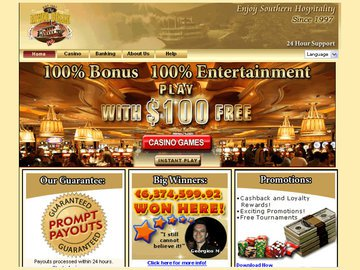 Riverbelle Casino Homepage Preview