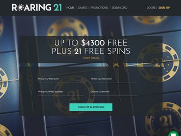 Roaring21 Homepage Preview