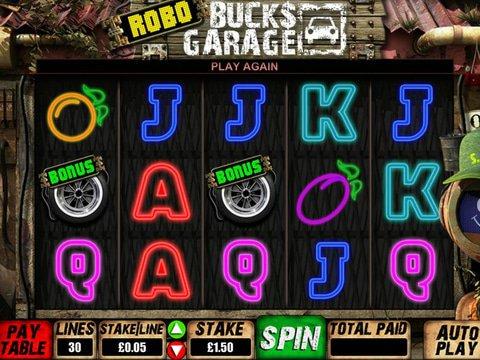 Robo Bucks Garage Game Preview