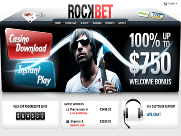 Rockbet Casino Homepage Preview