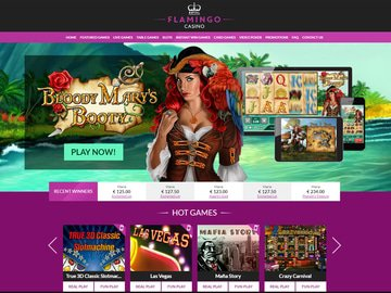 Royal Flamingo Casino Homepage Preview