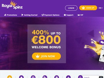 Royal Spinz Homepage Preview