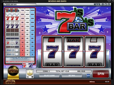 Play Sevens and Bars Slot Machine Free with No Download