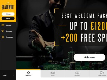 Shadowbet Homepage Preview