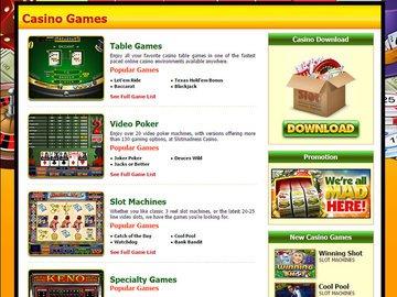 Slot Madness Casino Software Preview