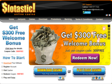Slotastic Casino Homepage Preview
