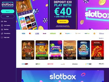 SlotBox Homepage Preview