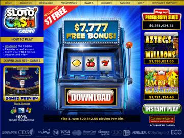 Slotocash Casino Homepage Preview