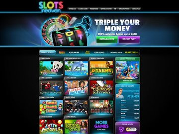 Slots Heaven Homepage Preview