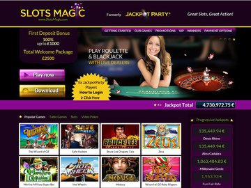 Slots Magic Casino Software Preview