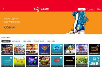 Slots.com Homepage Preview