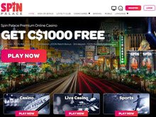 Spin Palace Casino Homepage Preview