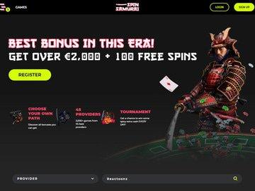Spin Samurai Homepage Preview