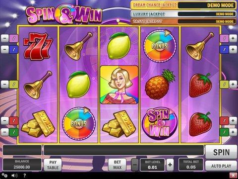Spin slots win blackjack pizza menu