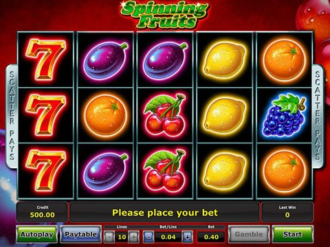 Spinning Fruits Game Preview
