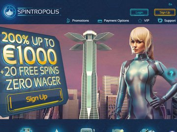 Spintropolis Casino Homepage Preview