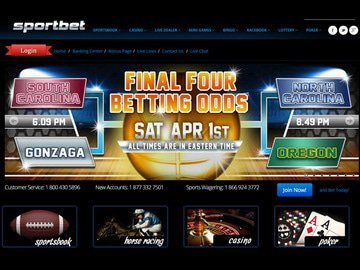 Sportbet Homepage Preview