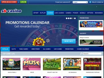 Sportingbet Casino Homepage Preview