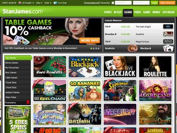 Stan James Casino Homepage Preview