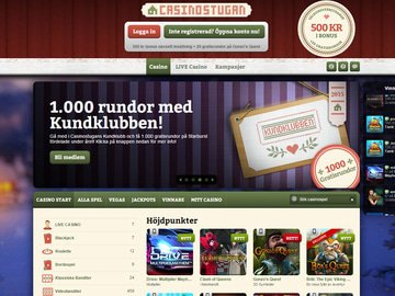 Stugan Casino Homepage Preview