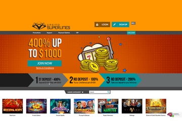Superlines Casino Homepage Preview