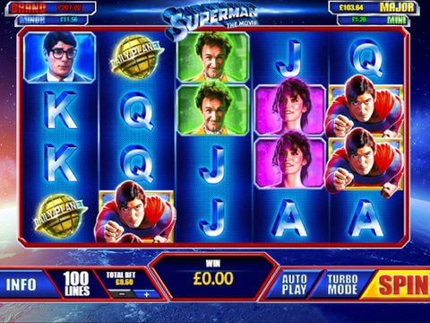 Superman I : Free-play No Download Slot Machine