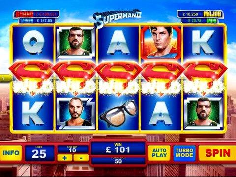 Superman II Slot Machine
