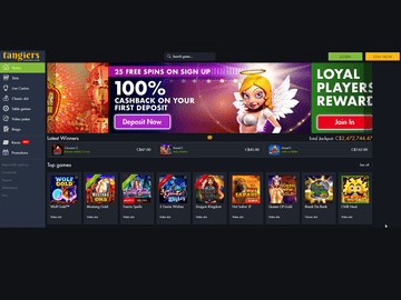Tangiers Casino Homepage Preview