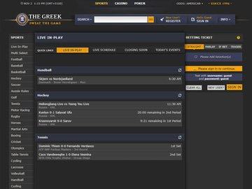 The Greek Homepage Preview