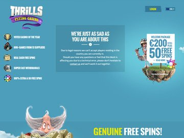 Thrills Casino Homepage Preview