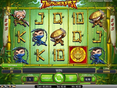 Fight For Wins In The No Download Thunderfist Slots