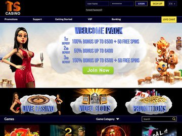 Times Square Casino Homepage Preview